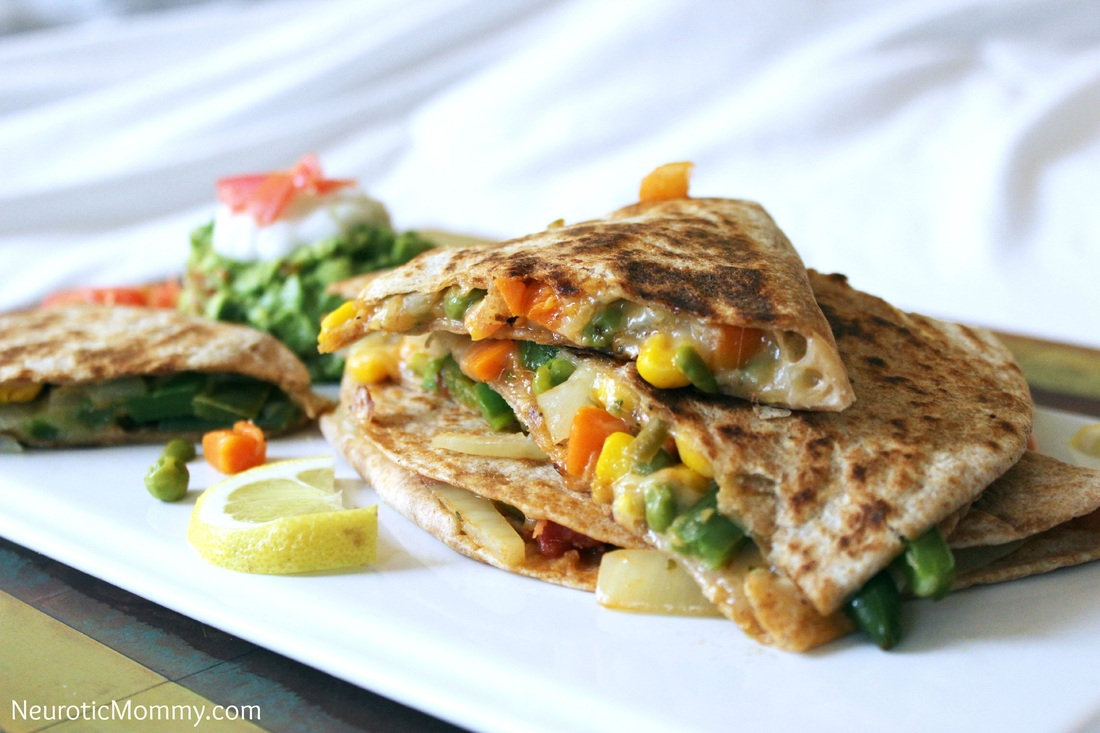 Vegetable and Cheese Quesadillas