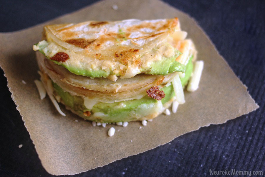 Avocado Hummus Quesadilla