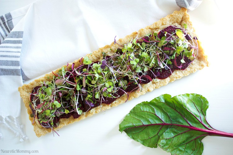Beet and Cheese Shortbread Tart