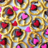 Coconut and Chocolate Covered Heart Pretzels