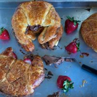 Baked Chocolate Almond Croissant Sandwiches