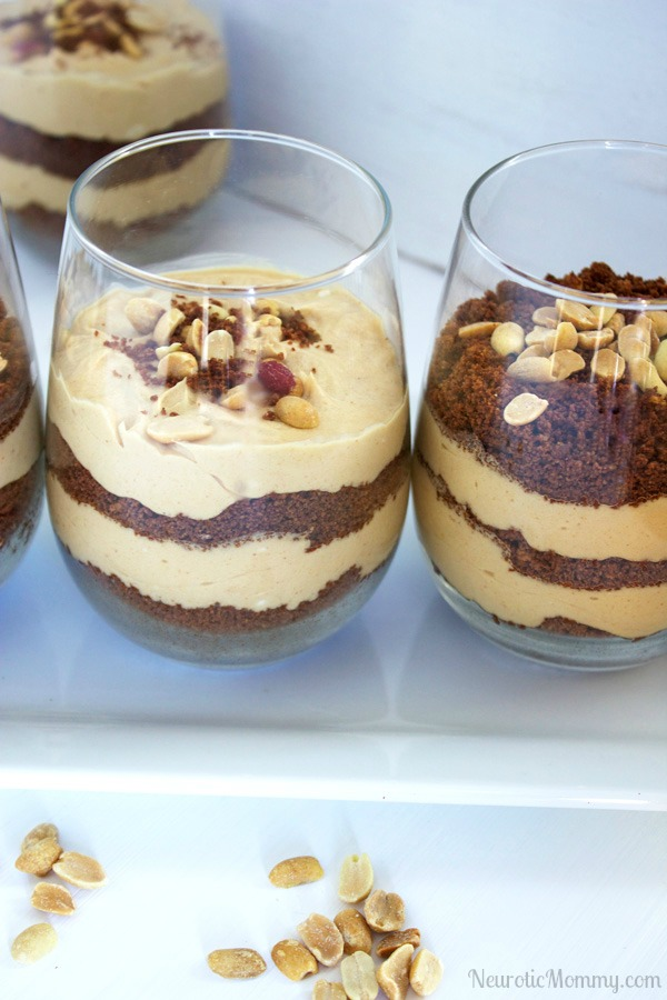Chocolate Crunch Peanut Butter Mousse Parfaits