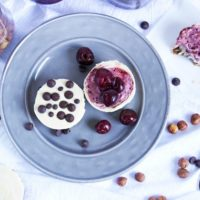 No Bake Mini Cherry and Chocolate Chip Cheesecakes