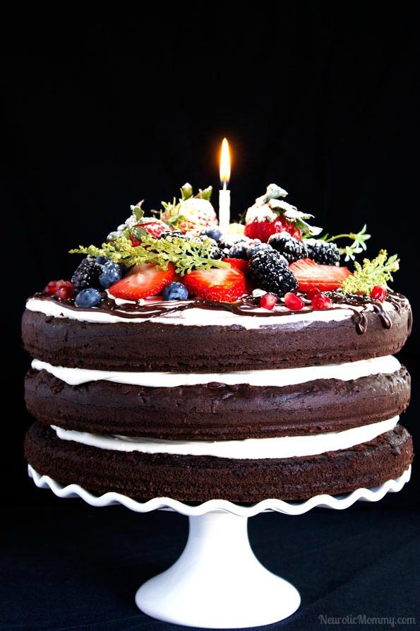 Triple Chocolate Layered Birthday Cake NeuroticMommy