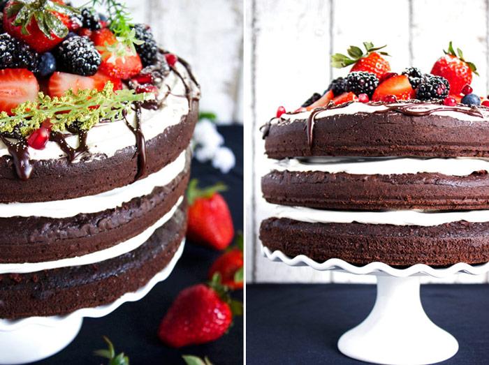 Triple Chocolate Layered Birthday Cake