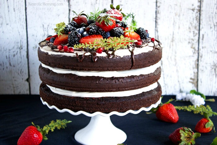 Triple Chocolate Layered Birthday Cake