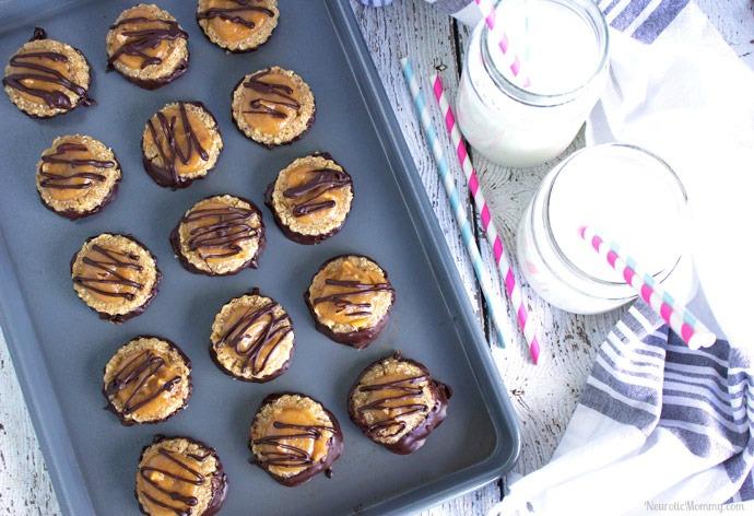 Clean No Bake Samoa Cookies