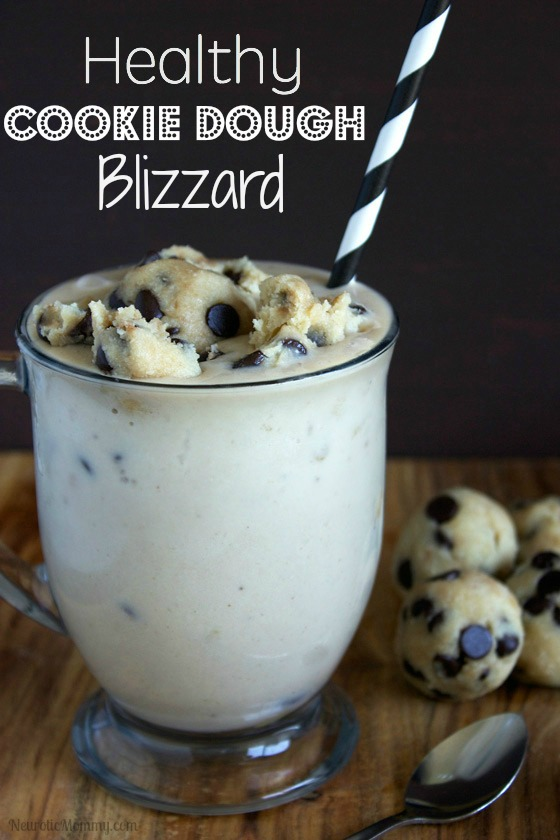 Healthy Chocolate Chip Cookie Dough Blizzard