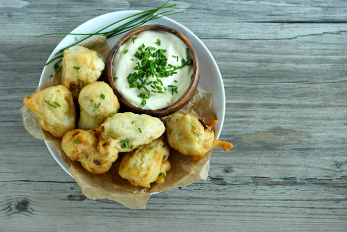 3 Ingredient Beer Battered Artichoke Hearts #vegan #appetizers