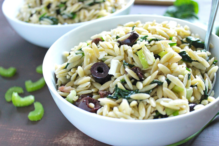 Spinach Orzo Pasta Salad. neuroticmommy.com