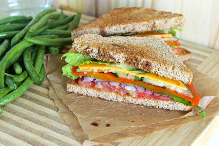Healthified Super Veggie Hoagie vegan sandwiches