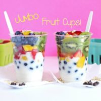 Jumbo Fruit Cups with Coconut Yogurt vegan snacks