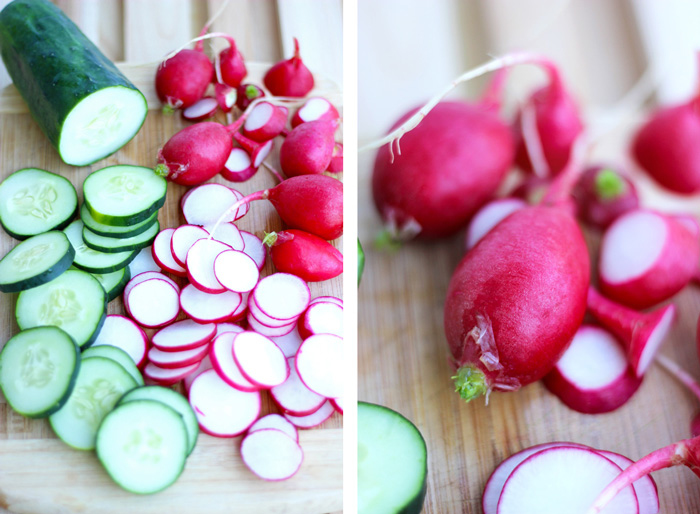 Organic Radish & Cucumber Salad with Mixed Greens. neuroticmommy.com