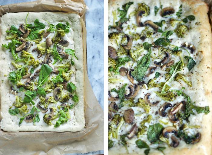 Plant Based Flatbread Veggie Pizza. neuroticmommy.com