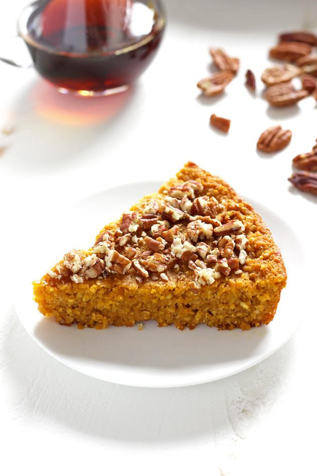 Maple Pecan Pumpkin Cornbread