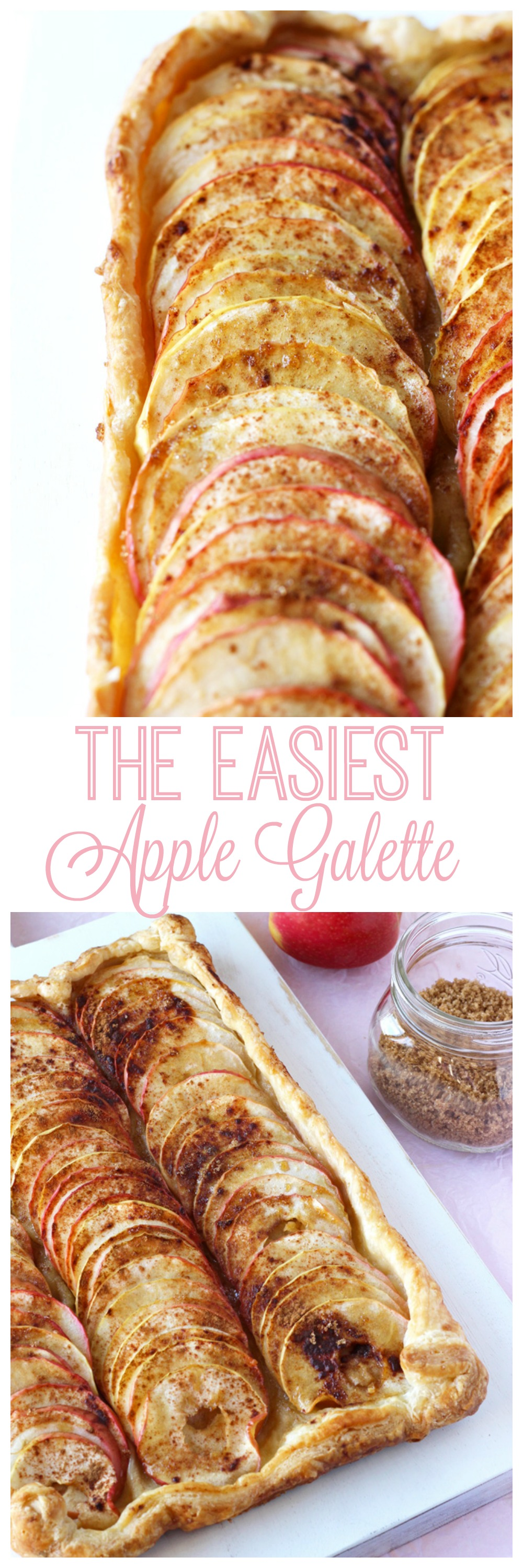 The Easiest Apple Galette. As easy as pie but even better! #vegan #apples #thanksgiving