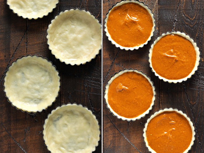 Single Serve Pumpkin Pie, for the true pumpkin lovers who do not want to share this magical, pumpkin-y dessert. NeuroticMommy.com #vegan #pie #holidayrecipes