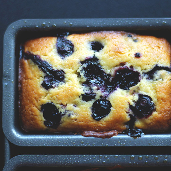 The Best Mini Blueberry Lemon Loaves - Little moist loaves beautifully intertwined with blueberry and a soft subtle hint of lemon with a sweet glaze. NeuroticMommy.com #vegan #thanksgiving #blueberry