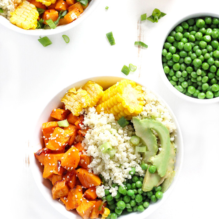 Sweet and Sour Cauliflower Rice Bowls