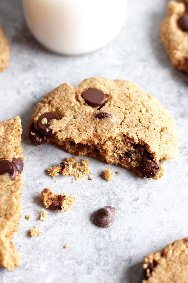 The Best Vegan Chocolate Chip Cookies - Chocolate Chips are a true classic and a must have around the holidays. Nix the eggs and butter for healthier, better ingredients and indulge in the chewiest, softest cookies ever! NeuroticMommy.com #vegan #cookies #christmas