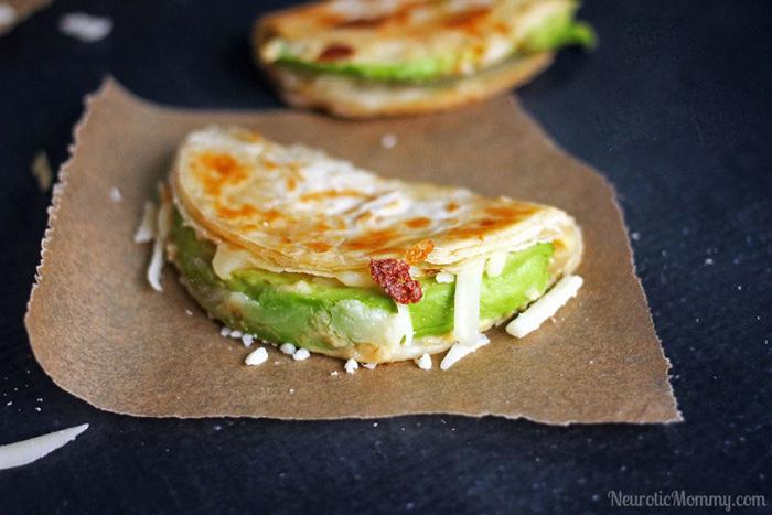 Easy Avocado and Hummus Quesadillas