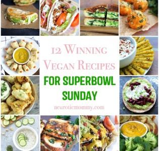 12 Winning Vegan Recipes for Superbowl Sunday - Easy to make vegan finger food to enjoy on game day. NeuroticMommy.com #vegan #superbowl