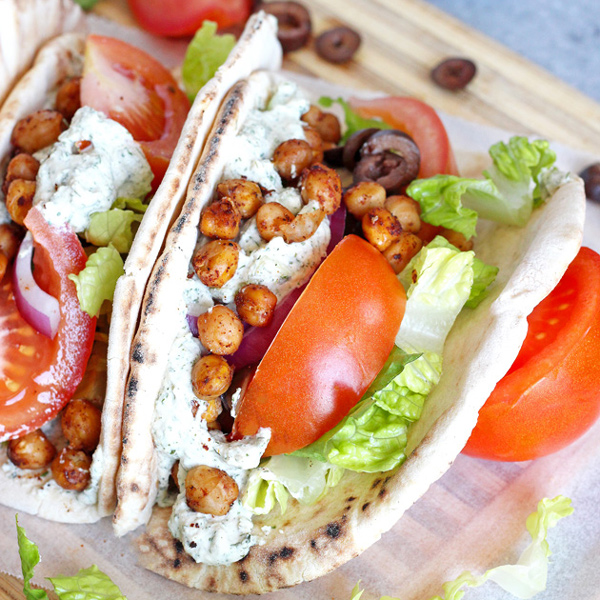 12 winning vegan recipes for super bowl Sunday - Street Style Vegan Gyros