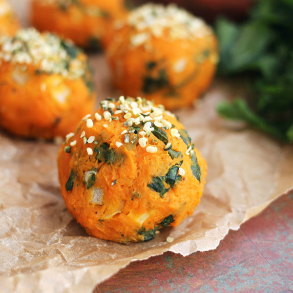 12 winning vegan recipes for super bowl Sunday - Sweet Potato and Kale Balls