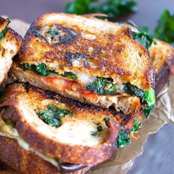 12 winning vegan recipes for super bowl Sunday - Ultimate Loaded Grilled Vegan BLT