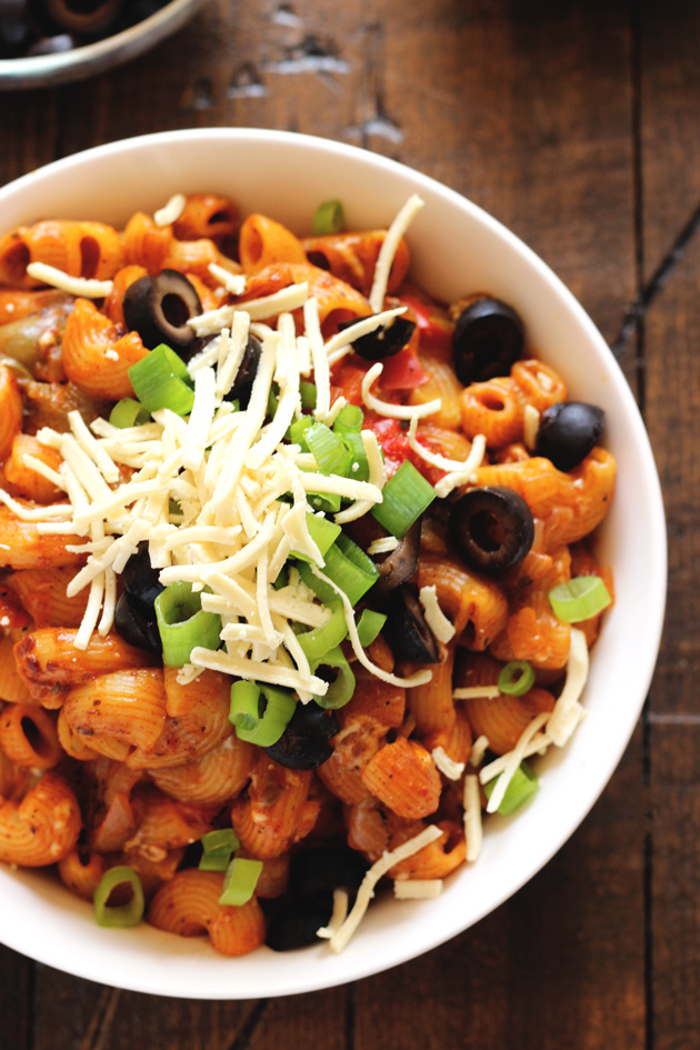 One Pot Vegan Enchilada Pasta