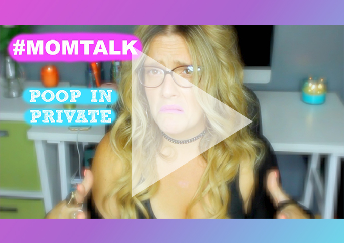 #MOMTALK - A parents right to poop in private. NeuroticMommy.com