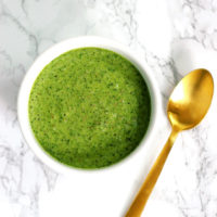 Walnut, Kale and Spinach Pesto - Easy vegan recipe that goes with just about anything. NeuroticMommy.com #vegan #pesto