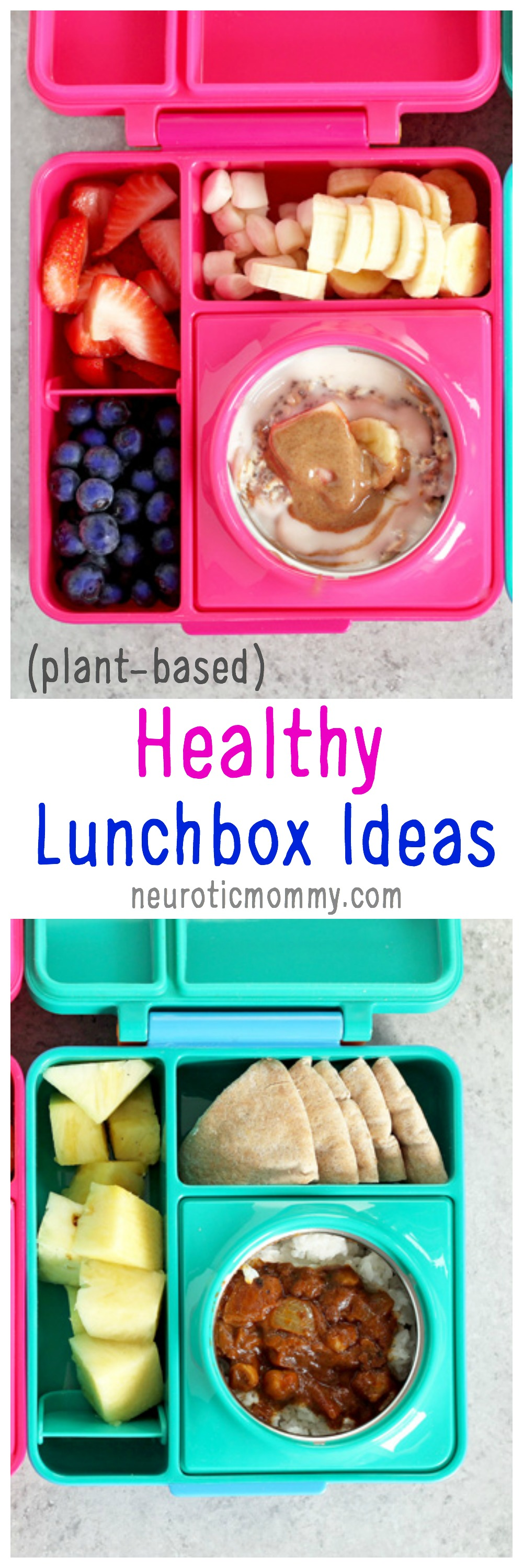 Healthy Lunchbox Ideas With Omiebox - Hot and cold bento box to make kids lunch irresistible! There's nothing better than sending your kid off to school with a healthy and nutritious meal that will stay fresh. NeuroticMommy.com #health #lunchbox #recipes #plantbased