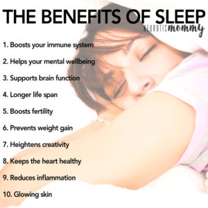 The Benefits of Sleep - Why sleeping should be made a priority and the tools you need to know on how to make that possible. NeuroticMommy.com #mindset #wellness #health