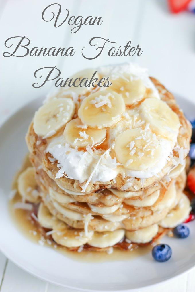 Vegan Banana Foster Pancakes   NeuroticMommy