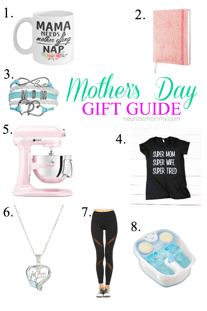 Last Minute Gift Guide for Mother's Day - Still looking for that perfect gift for mom? Look no further I've got you covered with these 8 mom must haves! NeuroticMommy.com #mothersday #giftideas