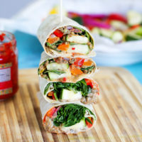 Mashed Lentil Wrap Loaded With Veggies - The ultimate wrap packed with plant based protein an a whole lotta goodness. NeuroticMommy.com #vegan #backtoschool #easyveganrecipes #lentils