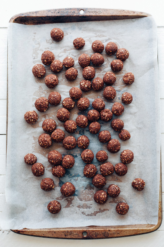 Homemade Vegan Cocoa Puffs - 4 ingredient chocolatey cereal that's naturally sweetened and perfect for breakfast! You can even enjoy these as a dry snack. NeuroticMommy.com #vegan #cereal #cocoapuffs