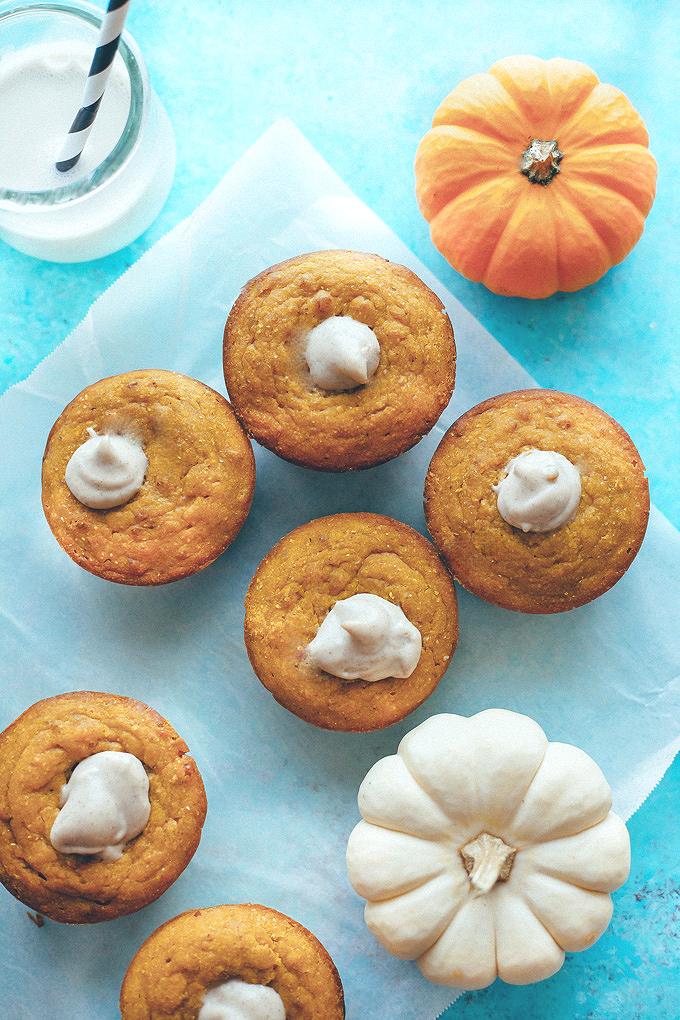 Maple Corn Muffins with Pumpkin Spice Cashew Cream Filling ...