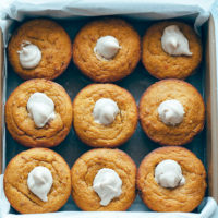 Maple Corn Muffins with Pumpkin Spice Cashew Cream Filling