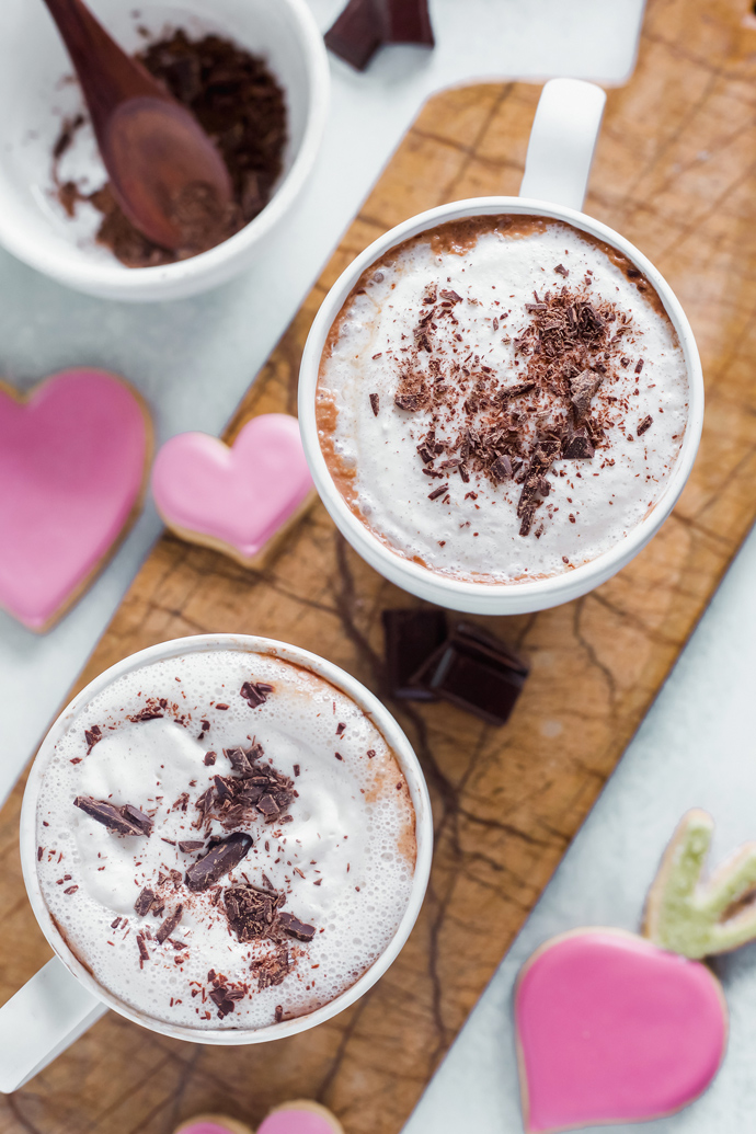Healthy Hot Cocoa + GIVEAWAY - For when you're feeling decedent and super fancy enjoy your self a hot cocoa to match! Easy to make and good for you. NeuroticMommy.com #veganhotcocoa #vegan