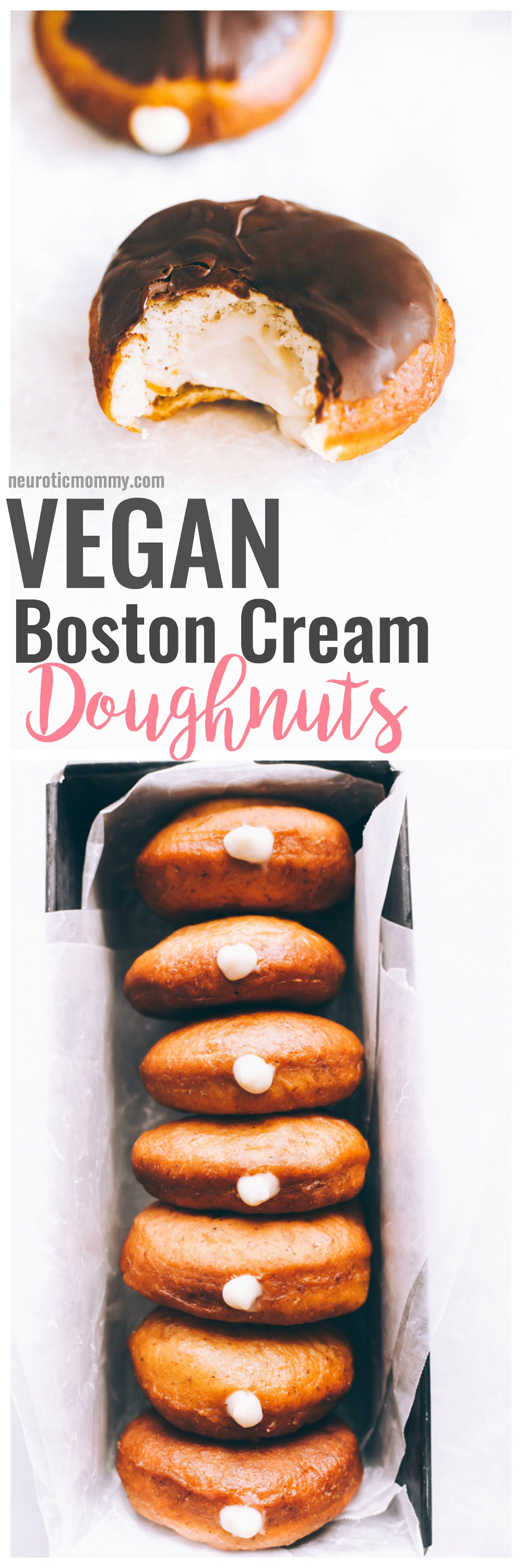 Vegan Boston Cream Doughnuts