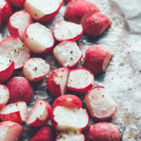 Roasted Radishes - The Potato Sub You've Been Looking For. If you're looking for a root vegetable to munch on, minus the carbs, radishes are your new best friend. NeuroticMommy.com