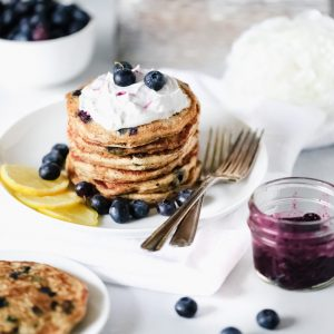 Vegan Blueberry Lemon Buttermilk Pancakes