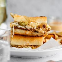 The Best Vegan Reuben Sandwich - Cheesy, melty, and loaded with all the goods as any Reuben should be, and using tempeh of course! NeuroticMommy.com #vegan #reuben