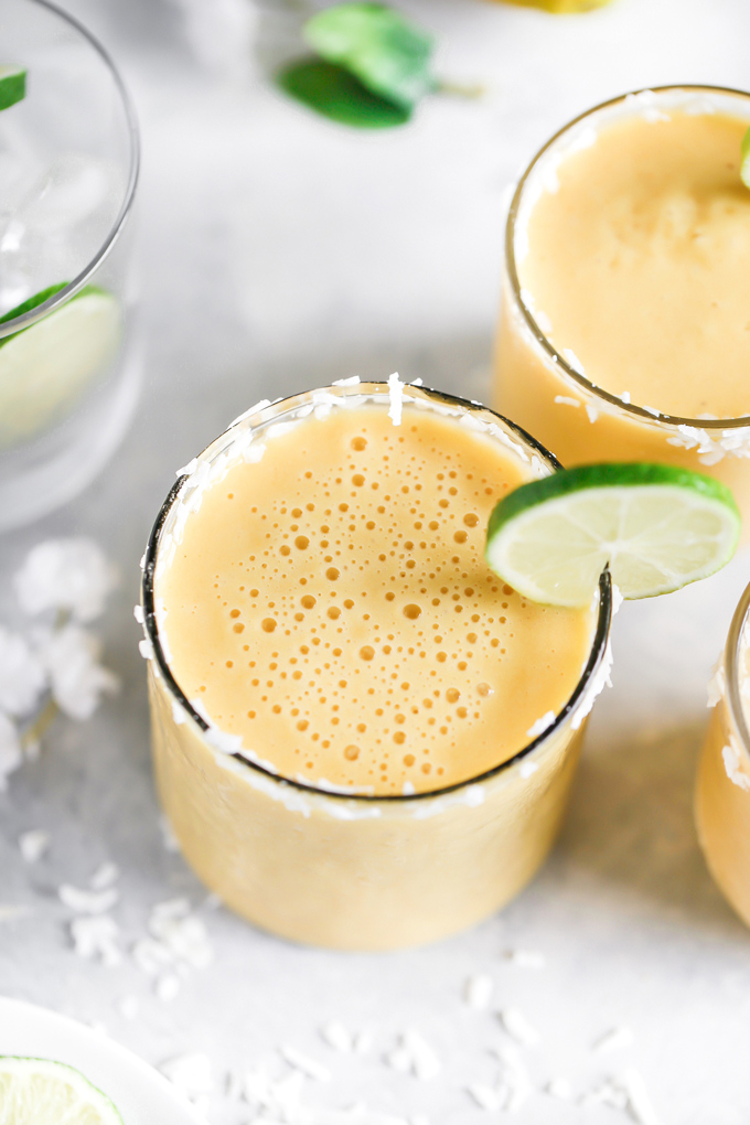 This Immune Boosting Vitamin C Smoothie will give you all the summer feels as it's loaded with vitamin C (hence the name), is super refreshing with hints of lemon, lime, and vanilla. NeuroticMommy.com #smoothie #immunebooster