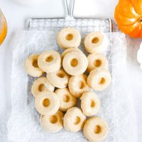Vegan Pumpkin Cheesecake Doughnut Fat Bombs - Yum pumpkin doughnut creamy cheesecake goodness that will help you reach your fat goal & keep you in ketosis! And the perfect fall, holiday treat! NeuroticMommy.com #vegan #keto