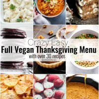 Crazy Easy Vegan Thanksgiving Menu - full with starters, mains, entrees, desserts, beverages and more! You'll be fully covered with this vegan menu! NeuroticMommy.com