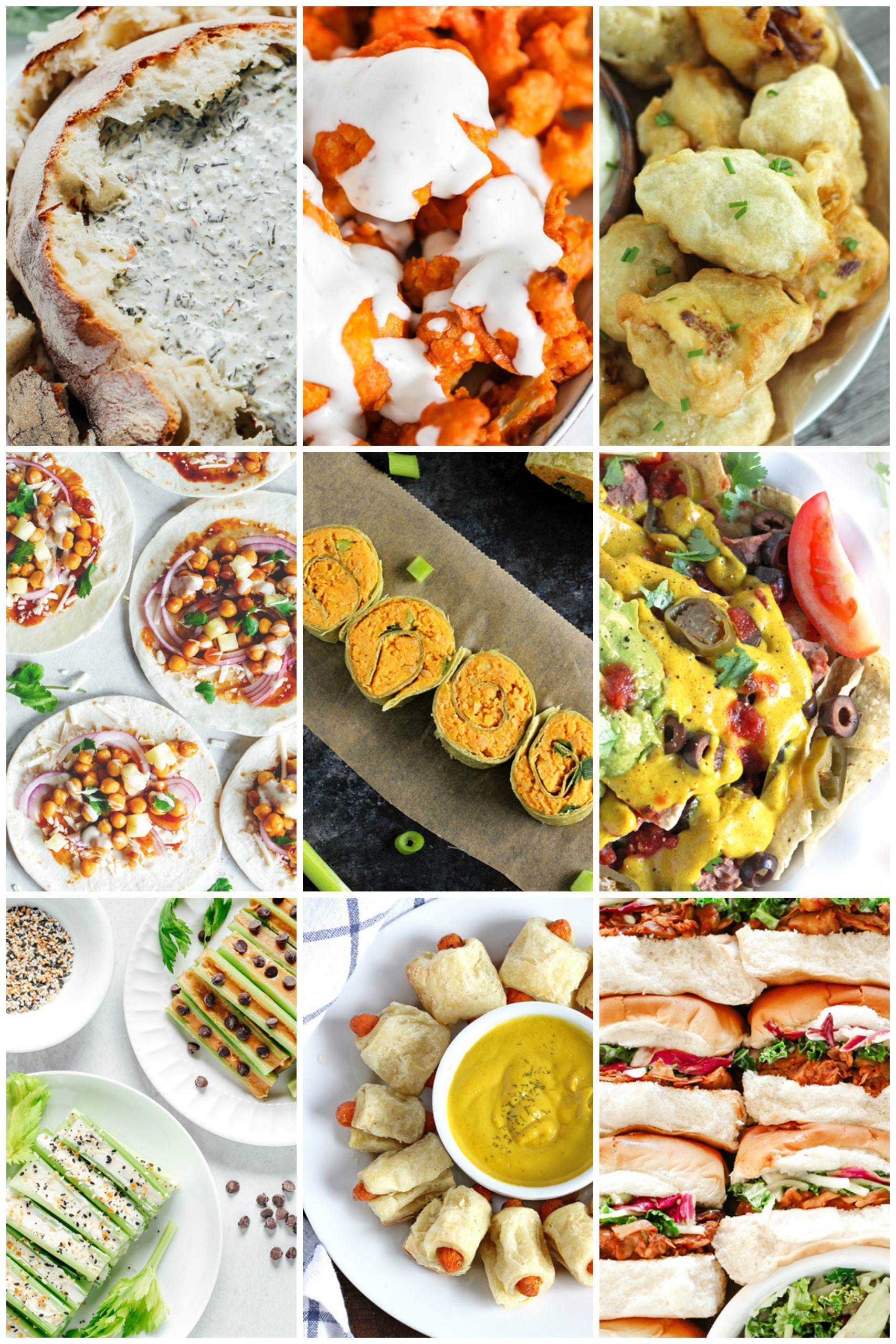 Fun Vegan Super Bowl Snack Recipes For Game Day - There's a little bit of something for everyone without the overwhelm of what to make. Stick to what everyone wants to really snack on and you're all set. NeuroticMommy.com #superbowl2020 #snackroundup #vegansnacks