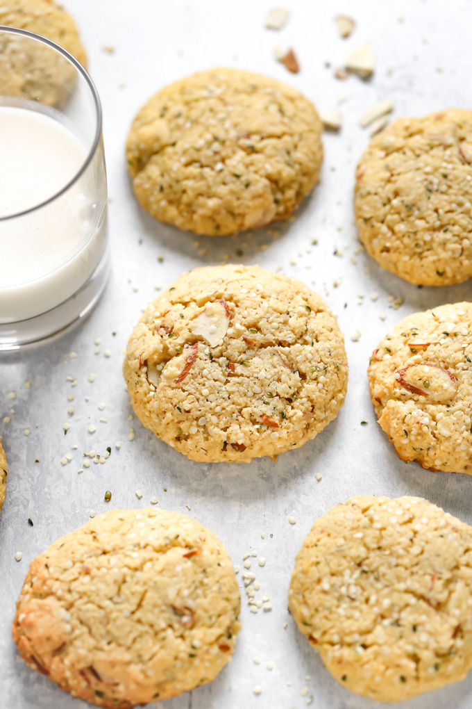 These are my Vegan Breakfast Cookies but could also be known as my Vegan Lactation Cookies. Super high in flaxseeds, hemp, and almonds, this is THE cookie to help boost and maintain milk supply. Not only that they're completely KETO! They're amazing to help you stay on track, high in healthy fats, great source of protein and only 1.2g Net Carbs. NeuroticMommy.com #vegan #veganketo #keto #cookies